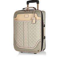 River Island Womens Grey quilted wheelie suitcase