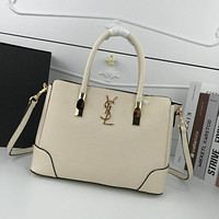 ysl women leather shoulder bag satchel tote bag handbag shopping leather tote crossbody satchel shouder bag 303