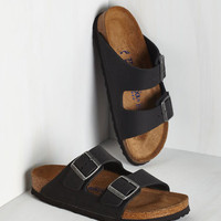 Festival Strappy Camper Sandal in Black
