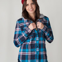 Plaid Flannel Hoodie - 2 Colors