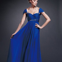 AB5203 Cap Sleeve Chiffon Mother of the Bride Dress