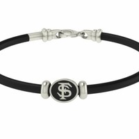 Florida State Seminoles Jewelry and Silver Rubber Bracelets