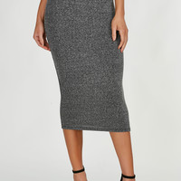 Good Stuff Ribbed Midi Skirt