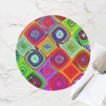 COLORFUL ABSTRACT CAKE STAND