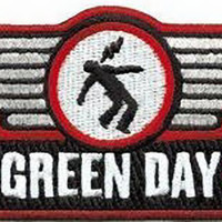 Green Day Iron-On Patch Wings Logo
