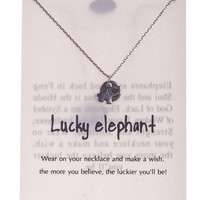 Women's Tiny Lucky Elephant Pendant Necklace by Shagwear