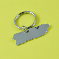 Puerto Rico Key Chain or Necklace