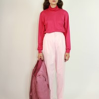 Baby Pink High Rise Trousers / M 27 Inch Waist