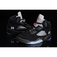 Air Jordan 5 black silver Basketball Shoes 40-47