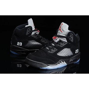 Air Jordan 5 black silver Basketball Shoes 36-47