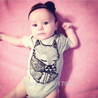 High quality 2016 summer short-sleeved cotton baby boy baby girl rompers newborn baby clothes