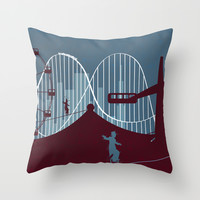 Minimalist circus Throw Pillow by Tony Vazquez
