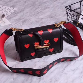 LOEWE BARCELONA VALENTINES SMALL LEATHER SHOULDER BAG