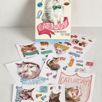 Quirky It's Meow or Never Temporary Tattoos by Chronicle Books from ModCloth