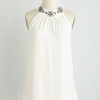 Luxe Mid-length Halter Let it Shimmer Top