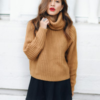 Lioness New World Turtleneck Knit Camel