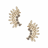 Leaf and Glitter Double Earcuff - Topshop