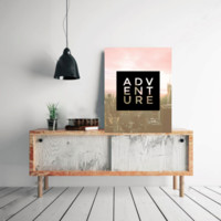 "Motivational Quote Poster ""Adventure"" Home Office Dorm Decor"