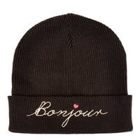 Bonjour Embroidered Beanie - Topshop USA