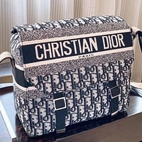Dior New fashion more letter canvas shoulder bag crossbody bag