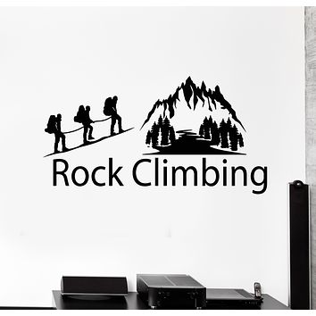 Vinyl Wall Decal Alpinism Rock Climbing Extreme Sports Mountains Stickers Mural (g3554)