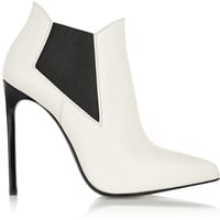 Saint Laurent Paris leather ankle boots – 40% at THE OUTNET.COM