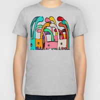 Dino Disco Kids T-Shirt by bri.buckley