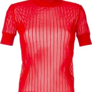 Carven Ribbed Sheer Blouse - Voo Store - Farfetch.com
