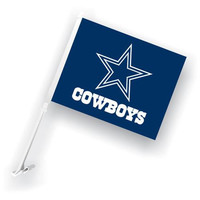 Dallas Cowboys NFL Car Flag with Wall Brackett