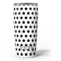 Slate Black All Over Star Pattern - Skin Decal Vinyl Wrap Kit compatible with the Yeti Rambler Cooler Tumbler Cups