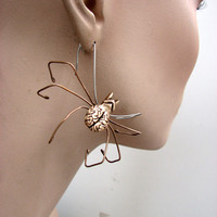 Zombie spider earring wire sculpture