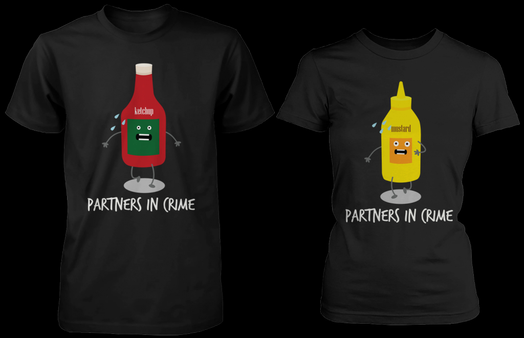 Image of Ketchup & Mustard Partners In Crime Matching Couple Shirts (his & hers Set)
