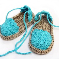Crochet Pattern Baby Sandals n.104 by Beatifico - Craftsy