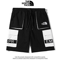 Supreme & The North Face New fashion embroidery letter shorts Black