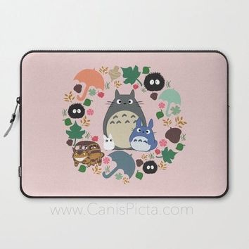 Pink Totoro Kawaii Laptop Case Sleeve My Neighbor Macbook Computer Studio Ghibli Miyazaki Anime PC Catbus Soot Sprite Forest Blue White Gift