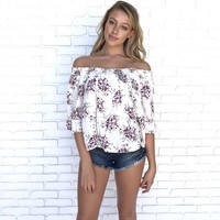 Malinda Floral Off Shoulder Top