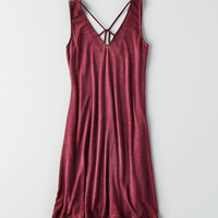 AEO Soft & Sexy Strappy V-Neck Dress, Burgundy