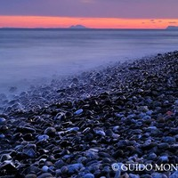 """""""Shiny rocks"""" At pink sunset. Spain, Gibraltar and Africa in one photo. by Guido Montañés"""