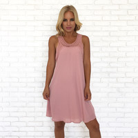 My Only Love Shift Dress In Pink