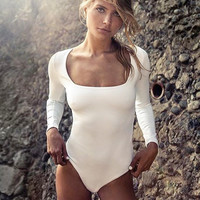 T-shirts Women's Fashion Winter Ladies Sexy Slim Long Sleeve Knit Tops One-piece [11710037775]