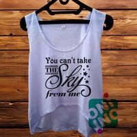 Firefly You Cant Take The Sky from Me crop tank Women's Cropped Tank Top