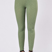 Kick Back Leggings - Olive