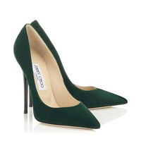 Evergreen Suede Pointy Toe Pumps | Anouk | Autumn Winter 14 | JIMMY CHOO Shoes
