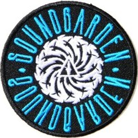 SOUNDGARDEN Music Band Logo Jacket T shirt Patch Sew Iron on Embroidered Cloth,Size 3Inch X 3Inch