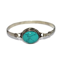 Turquoise Bangle Turquoise Bracelet Boho Bracelet Tribal Bracelet Bangle Silver Bracelet BB201