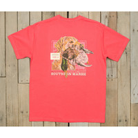 Southern Marsh Gun Dog Collection Tee- Strawberry Fizz