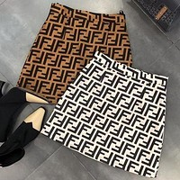FENDI New Popular Women Stylish All F Letter Skirt I/A