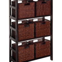 Leo 7pc Shelf and Baskets; one shelf, 6 small baskets; 3 cartons