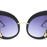 Eartha Embellished Cat Eye Sunglasses