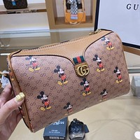 GUCCI x DISNEY Joint Cartoon Character Print Shoulder Bag